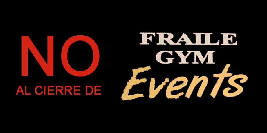 No al cierre de fraile events y cross training oficial for Gimnasio fraile
